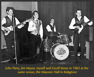 Our second appearance at the Masonic Hall, Kidsgrove a year later in 1962